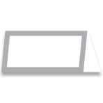 Silver Table Number Cards 10cm x 10cm x 2cm - 6 PKG/50