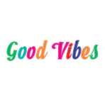 Good Vibes Felt Letter Banners 1.67m - 6 PC