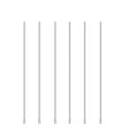 """White Balloon Stick 16""""/41cm - 1 PC"""
