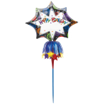 "Happy Birthday Inflatable Lawn Sign 51""/130cm P90 - 5 PC"