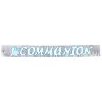 Radiant Cross Blue Glitter Fringed Banner  - 1.5m x 22.8cm - 12 PKG