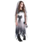 Teens Graveyard Bride Zombie Costume - Age 14-16 Years - 1 PC
