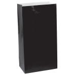 Black Mini Paper Bags 7.8cm x 16.5cm x 5.7cm  - 12 PKG/12