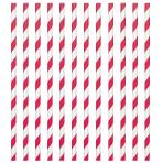 Apple Red Paper Straws 19cm - 12 PKG/24
