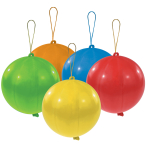 "Punch Balls Assorted Colours Latex Balloons 11""/27.5cm - 10 PKG/5"
