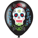"Day of the Dead Latex 4 Colour Balloons 11""/27cm - 6 PKG/6"