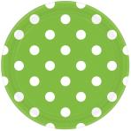 Kiwi Green Dots Paper Plates 23cm - 12 PKG/8