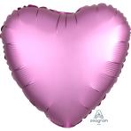 Flamingo Heart Satin Luxe Standard HX Foil Balloons S15 - 5 PC