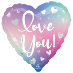 Love You Filtered Ombre Standard Foil Balloons S40 - 5 PC
