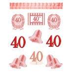 40th Anniversary Decoration Kits - 12 PC
