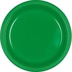 Festive Green Plastic Plate 22.8 cm - 10 PKG/20