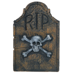 Tombstone with Skull and Crossbones 57cm x 37cm - 12 PC