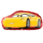 "Cars 3 Cruz/Jackson SuperShape Foil Balloons 35""/88cm x 17""/43cm P35 - 5 PC"