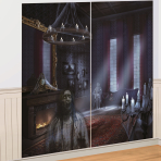 Dark Manor Wall Decorations 82cm x 1.65m - 6 PKG/2