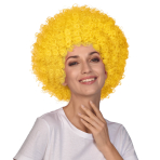 Yellow Afro Wigs - 6 PC