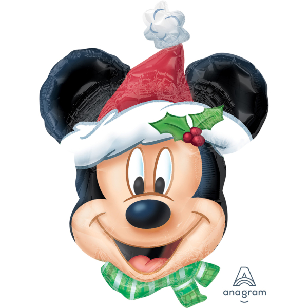 mickey mouse christmas supershape foil balloons 27 69cm w x 21
