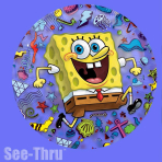 """SpongeBob See-Thru Foil Balloon 26""""/66cm P30 5 PC"""