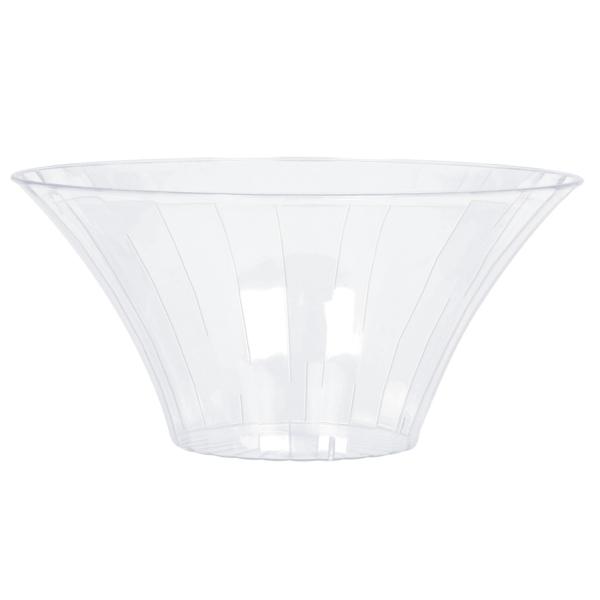 clear large plastic flared bowl dia 12 pkg amscan international. Black Bedroom Furniture Sets. Home Design Ideas