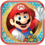 Super Mario Square Paper Plates 23cm - 6 PKG/8
