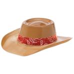 Western Plastic Cowboy Hats with band 34.2cm x 26.6cm - 24 PC