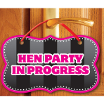 Hen Night Party in Progress Door Signs - 6 PKG