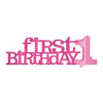 1st Birthday Pink Glitter Centrepieces 35.5cm - 12 PC