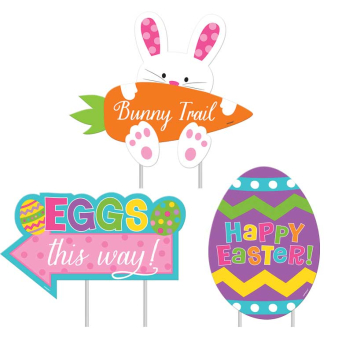 Easter Garden Signs- 9 PKG/3