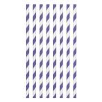 New Purple Paper Straws 19cm - 12 PKG/24