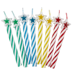 Assorted Candles with Star - 12 PKG/8