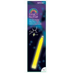 Fancy Glow Yellow Stick Necklaces 15cm - 6 PC