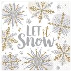 Shining Snow Luncheon Napkins 33cm - 12 PKG/16