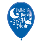 "Twinkle Little Star 4 Sided Latex Balloons 11""/28cm - 6 PKG/6"