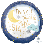 Twinkle Little Star Standard Satin XL Foil Balloons S40 - 5 PC