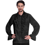 Satin Black Shirt -Small Size - 1 PC