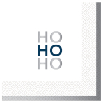 Ho Ho Ho Hot Stamped Luncheon Napkins 33cm - 6 PKG/16