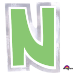 Personalised Letter: N Stickers - 48 PC