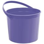 Purple Plastic Bucket 11.4cm h x 13cm dia - 12 PKG