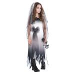 Teens Graveyard Bride Zombie Costume - Age 12-14 Years - 1 PC