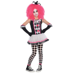 Children Circus Sweetie Clown Costume - Age 4-6 Years - 1 PC
