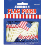 USA Flags Food Picks - 12 PKG/120