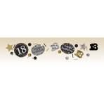 Gold Sparkling Celebration 18th Confetti 34g - 12 PC