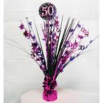 Pink Sparkling Celebration 50th Spray Centrepieces 45cm - 6 PC