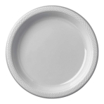 Silver Plastic Plates 23cm - 10 PKG/10