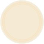 Vanilla Creme Paper Plates 23cm - 6 PKG/20
