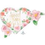 """Floral Baby SuperShape Satin XL Foil Balloons 27""""/68cm x 20""""/50cm P35 - 5 PC"""