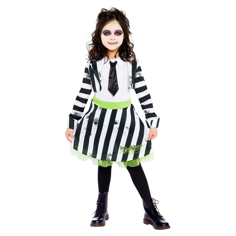 Beetlejuice Costume Girls Age 10 12 Years 1 Pc Amscan International