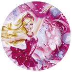 Barbie Pink Shoes Paper Plates 23cm - 10 PKG/8