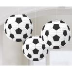 Championship Soccer Paper Lantern 24cm - 12 PKG/3