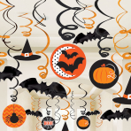 Halloween Swirls Decorations - 6 PKG/30