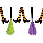 Witches' Crew Paper Tassel Pennant Banners - 6 PC